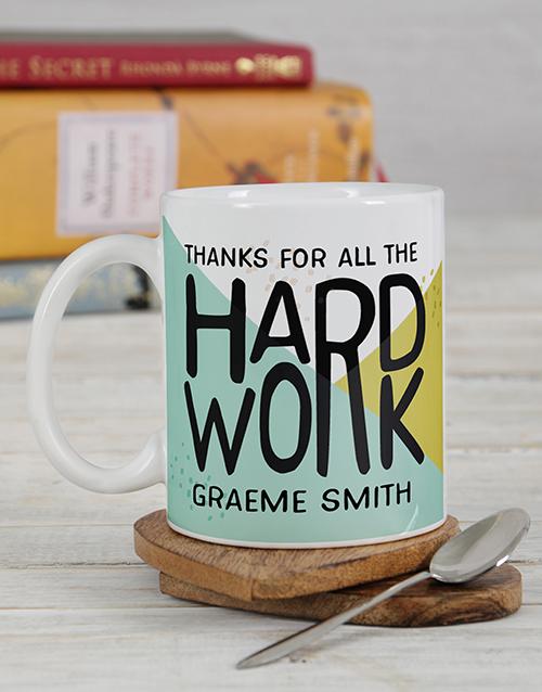 homeware: Personalised Hardwork Mug Set!