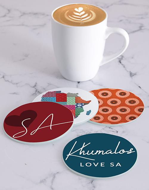 personalised: Personalised Africa Coasters!