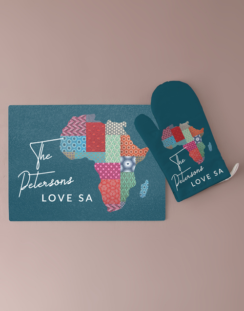 homeware: Personalised Africa Glass Chopping Board!