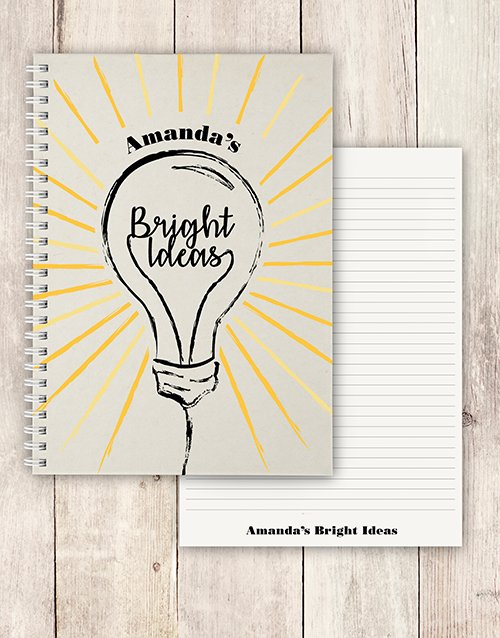 personalised: Personalised Bright Ideas Notebook!