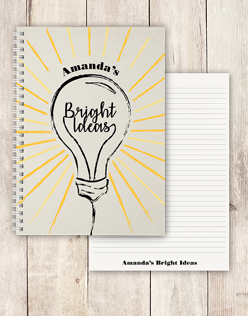 bosses-day: Personalised Bright Ideas Notebook!