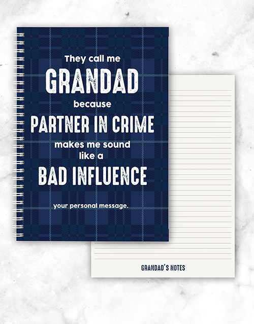 personalised: Personalised Partner In Crime Notebook!
