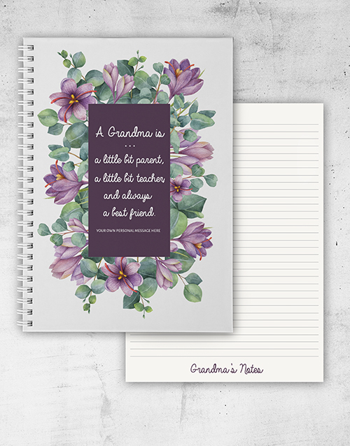grandparents-day: Personalised Grandmother Notebook!