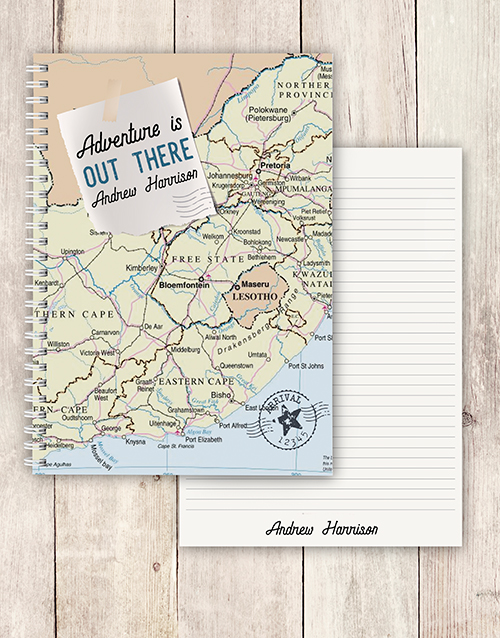 personalised: Personalised Adventure Is Out There Notebook!