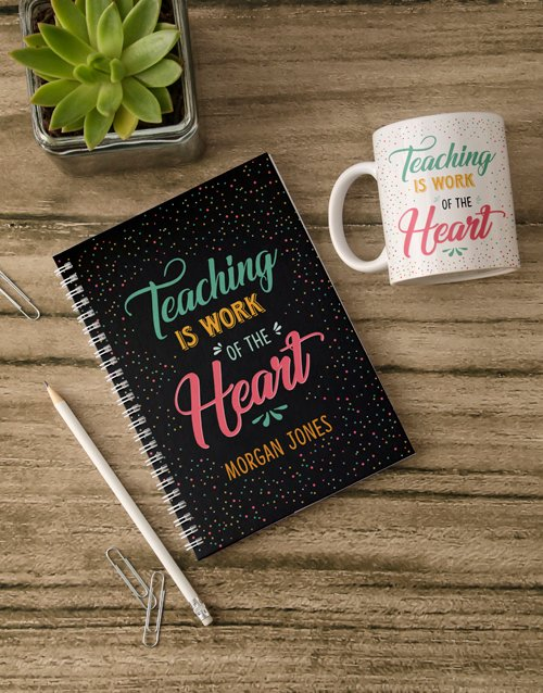 mothers-day: Personalised Work Of Heart Notebook!
