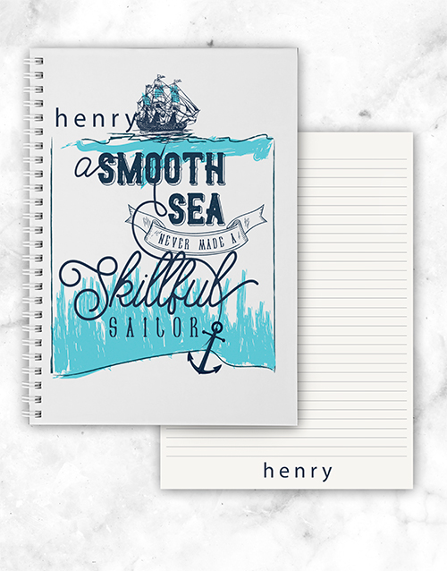 personalised: Personalised Skillful Sailor Notebook!