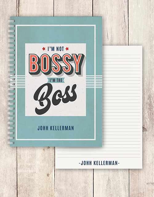 bosses-day: Personalised Im The Boss Notebook!