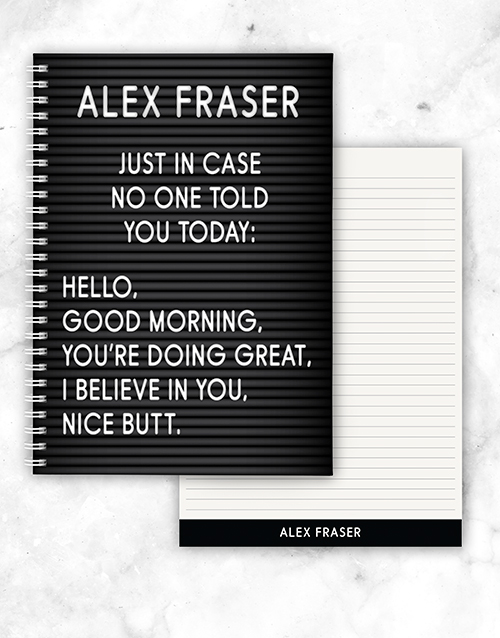 christmas: Personalised Just In Case Notebook!