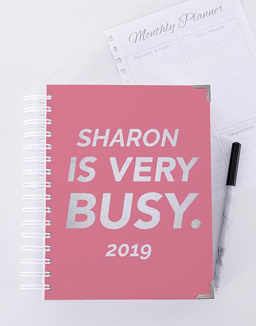 secretarys-day: Personalised Very Busy Journal!
