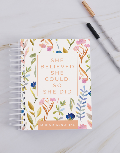 year-end: Personalised Believed She Could Journal!