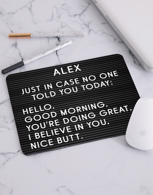 personalised: Personalised Just In Case Mouse Pad!