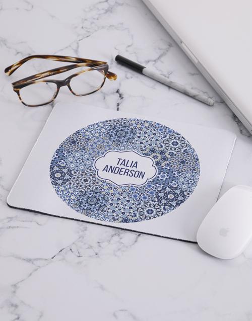 personalised: Personalised Blue Marrakesh Mouse Pad!