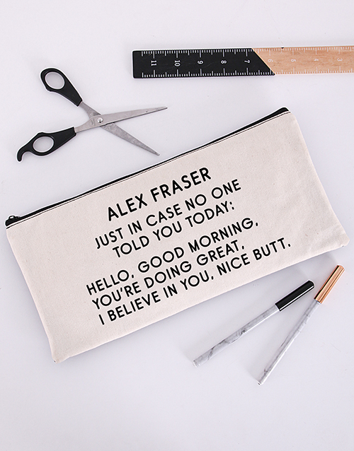 personalised: Personalised Just In Case Pencil Bag!