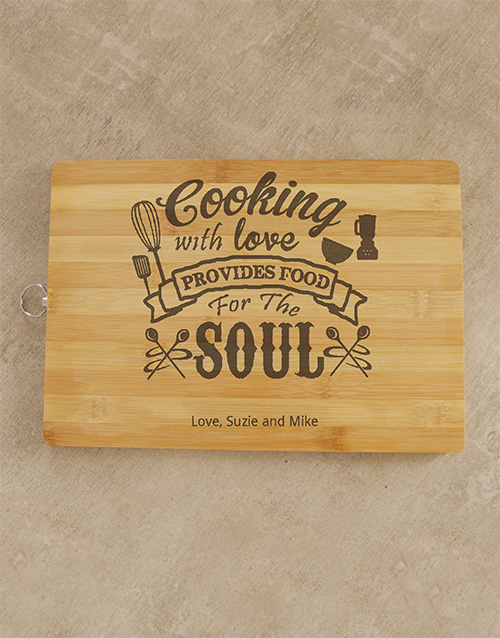 personalised: Personalised Cooking With Love Chopping Board!