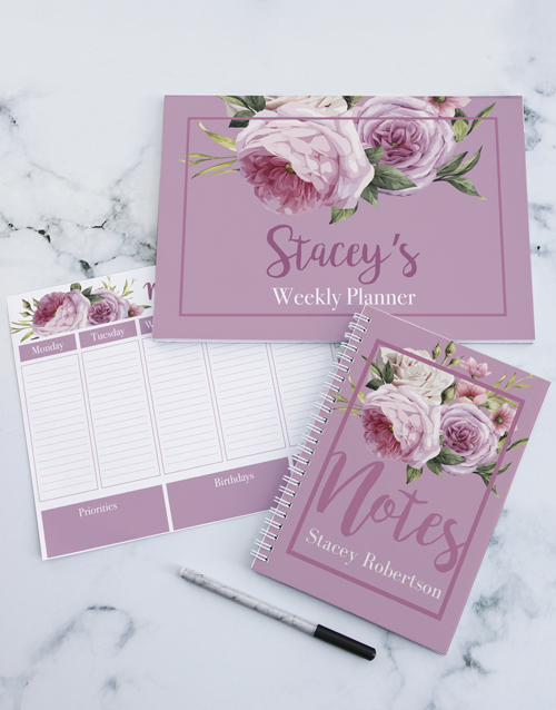 friendship: Personalised Roses Take Note Set!