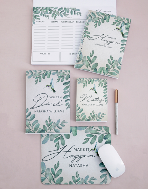 friendship: Personalised Leaf Take Note Set!