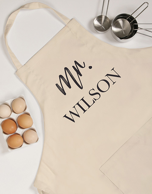 christmas: Personalised Modern Mrs Apron!