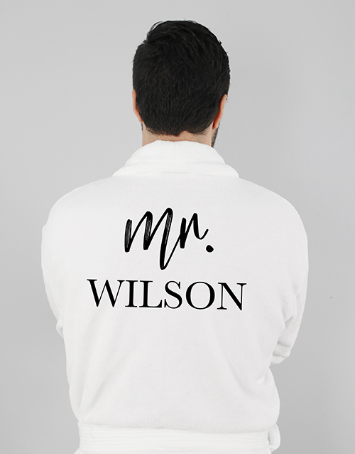 anniversary: Personalised Modern Man Gown!