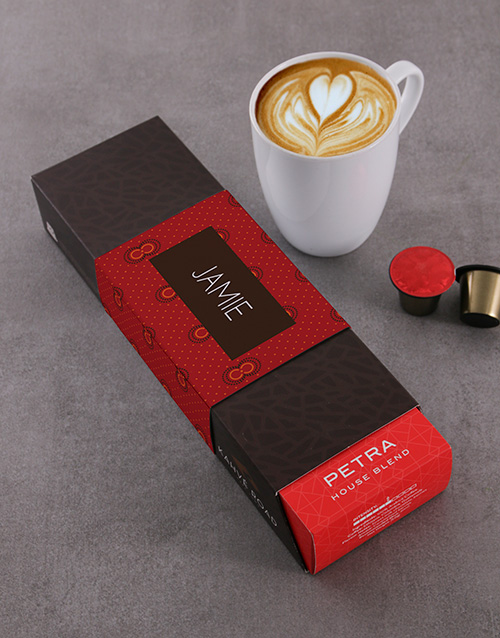 valentines-day: Personalised Petra Kahve Road Coffee Pods!