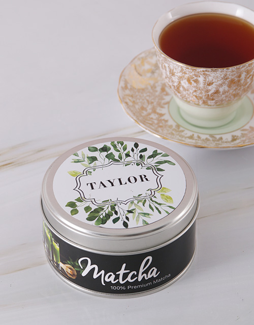 personalised: Personalised Botanical Matcha Tea Tin!