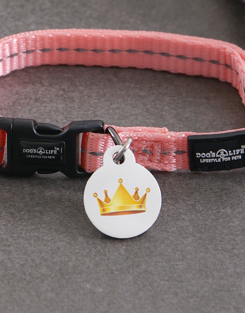 pets: Personalised Crown ID Tag and XS Collar!