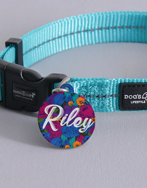 personalised: Personalised Floral ID Tag and Collar!