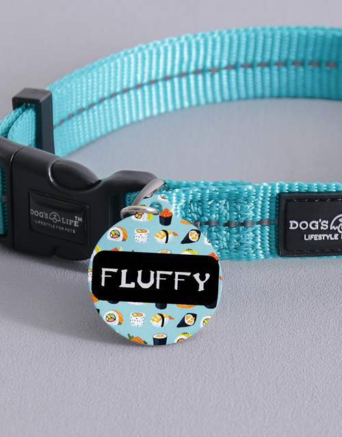 personalised: Personalised Sushi ID Tag and Collar!