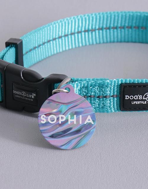 personalised: Personalised Purple ID Tag and Collar!
