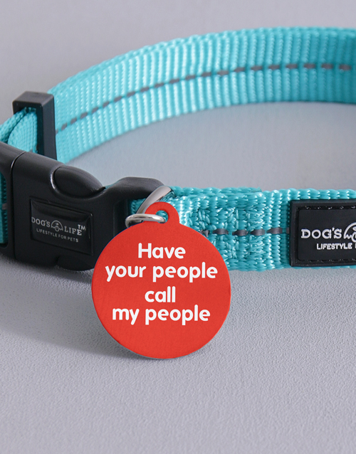 personalised: Personalised Call My People ID Tag and Collar!