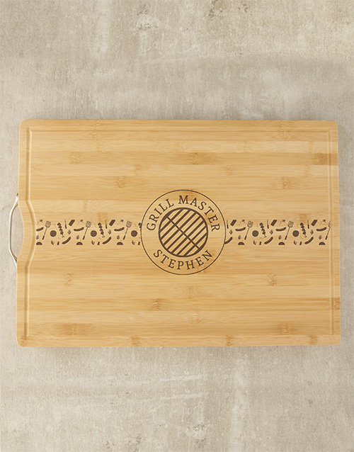 personalised: Personalised Grill Master Butchers Block!