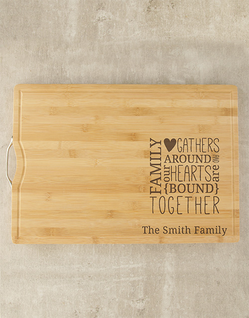 mothers-day: Personalised Family Butchers Block!