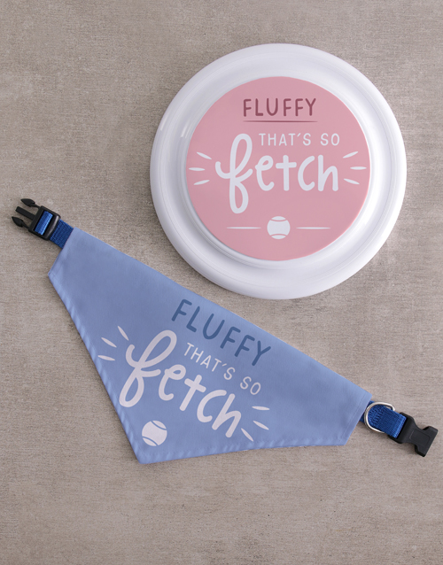 personalised: Personalised So Fetch Frisbee and Bandanna!
