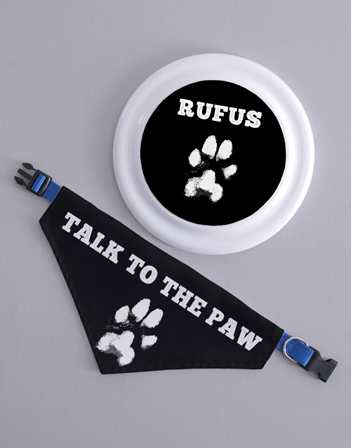 personalised: Personalised Paw Frisbee and Bandanna !