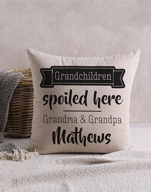 grandparents-day: Personalised Happy Grandchildren Scatter Cushion!
