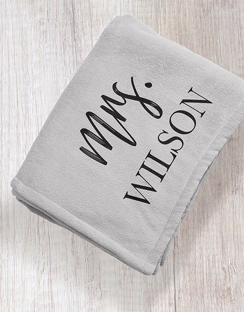 apparel: Personalised Modern Woman Grey Blanket!