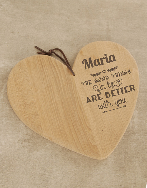 homeware: Personalised Loving Couple Chopping Board!