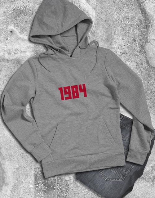 personalised: Personalised Year White Hoodie!
