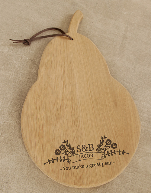personalised: Personalised Great Pear Cheese Board!