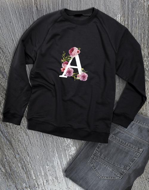 personalised: Personalised Rose Initial Sweater!