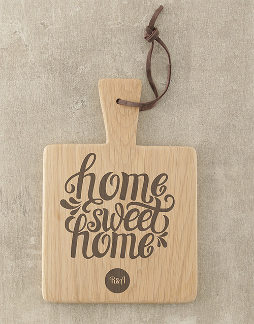 personalised: Personalised Home Sweet Home Square Board!