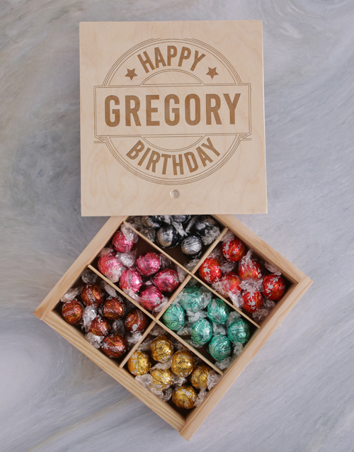 birthday: Personalised Happy Birthday Lindt Treasure Box!