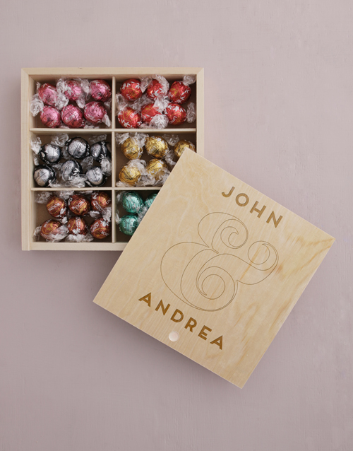 chocolate: Personalised Couples Lindt Treasure Box!