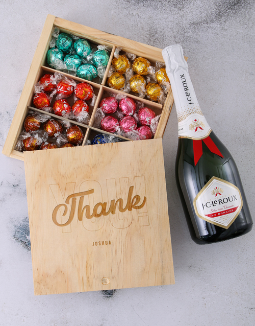 chocolate: Personalise Thank You Lindt Treasure Box!