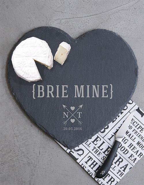 personalised: Personalised Brie Mine Cheese Board!