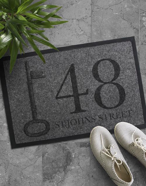 personalised: Personalised Address Doormat !