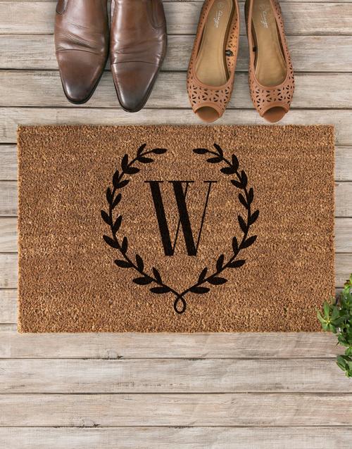 home-decor: Personalised Floral Wreath Doormat!