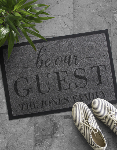 home-decor: Personalised Be Our Guest Doormat !