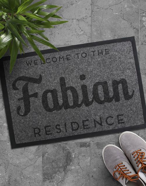 personalised: Personalised Family Residence Doormat!