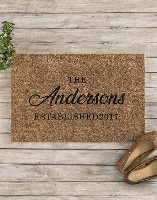 personalised: Personalised Family Established Doormat!