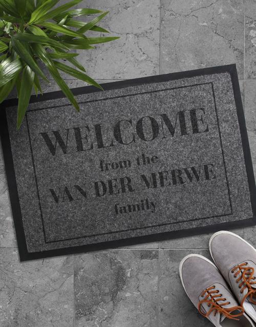personalised: Personalised Welcome Family Doormat!
